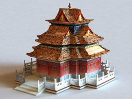 Ancient Japanese Temple 3d preview
