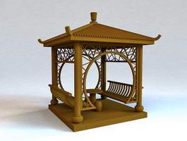 Japanese Pavilion 3d model preview