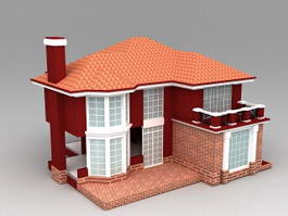 Country House Plans with Garage 3d preview