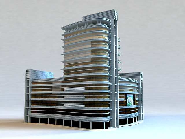 Commercial Shopping Mall Design 3d rendering