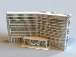 Modern Hotel Exterior 3d preview