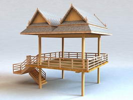 Floating Gazebo 3d preview