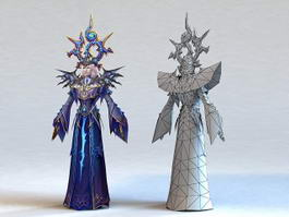 High Elf Priest Male 3d preview