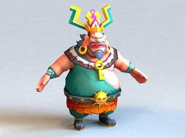 Fat Anime Character 3d model preview