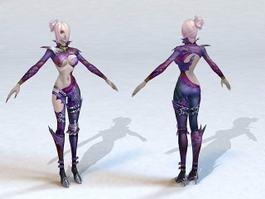 Female Elf Rogue 3d model preview