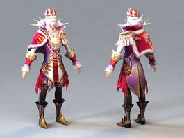 Human Male Wizard 3d preview