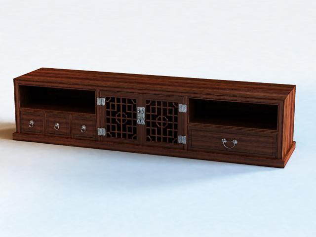TV Bench with Drawers 3d rendering
