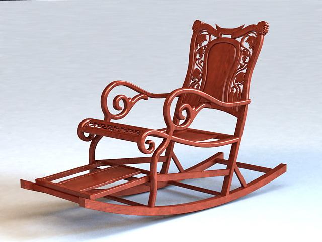 Antique Rocking Chair 3d rendering