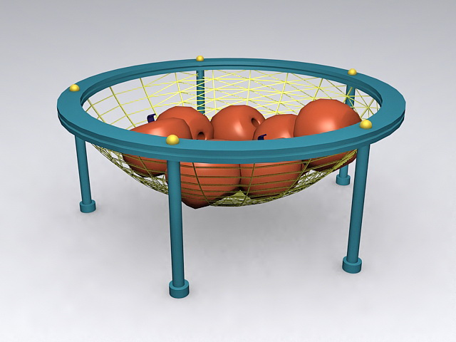 Vintage Wire Fruit Basket 3d rendering