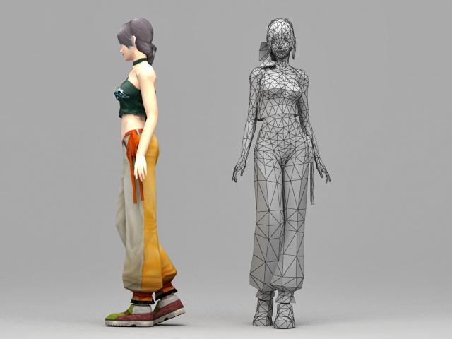 Pretty Asian Girl 3d rendering