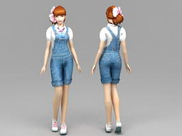 Blue Jeans Girl 3d preview