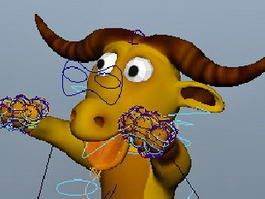 Cartoon Beef Cow 3d preview