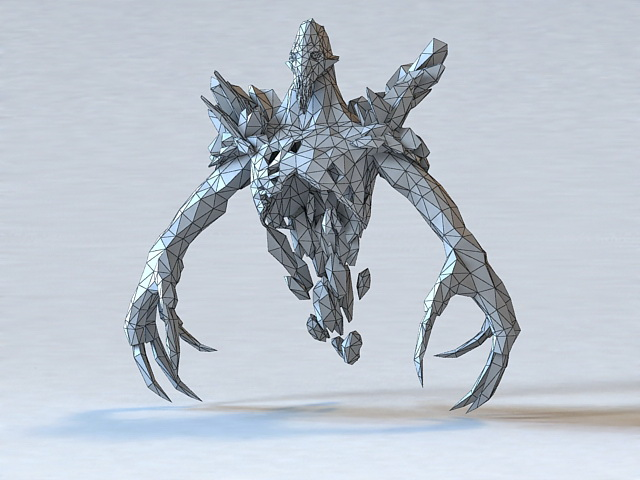 Ice Ghost 3d rendering