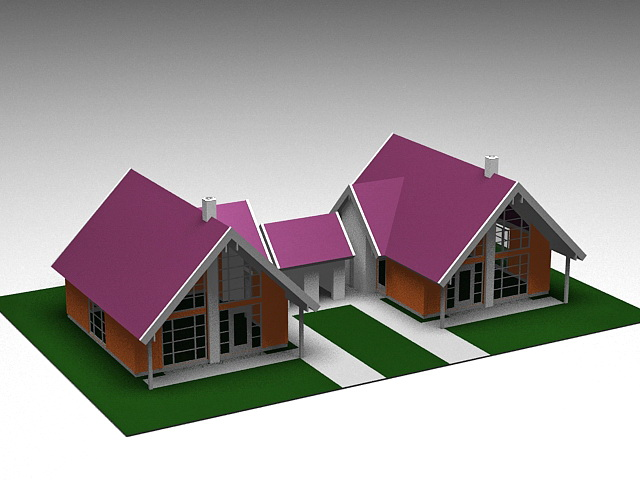 Small Country Cabins 3d rendering