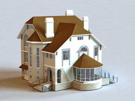 Typical English House 3d preview