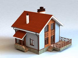 Rustic Country House 3d preview