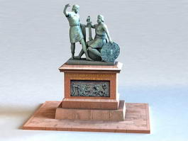 Monument to Minin and Pozharsky 3d preview
