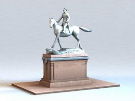 Statue of Marshal Georgy Zhukov 3d preview
