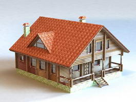 Country House Design 3d model preview