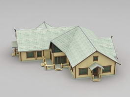 Country Farm House 3d preview