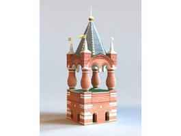 Moscow Russia Kremlin Tower 3d preview