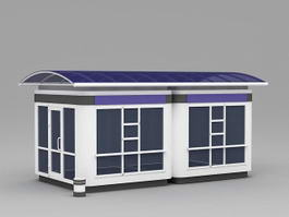 School Bus Stop Shelter 3d preview