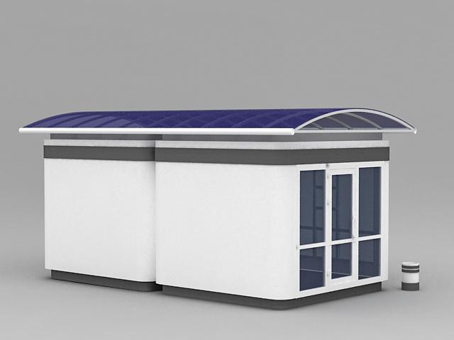School Bus Stop Shelter 3d rendering