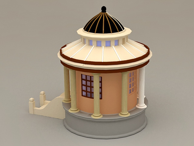 Roman Style Garden Gazebo 3d rendering
