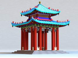 Qing Chinese Pavilion 3d preview