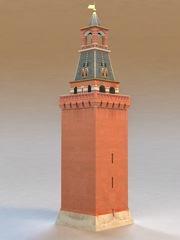 Moscow Kremlin Tower 3d rendering