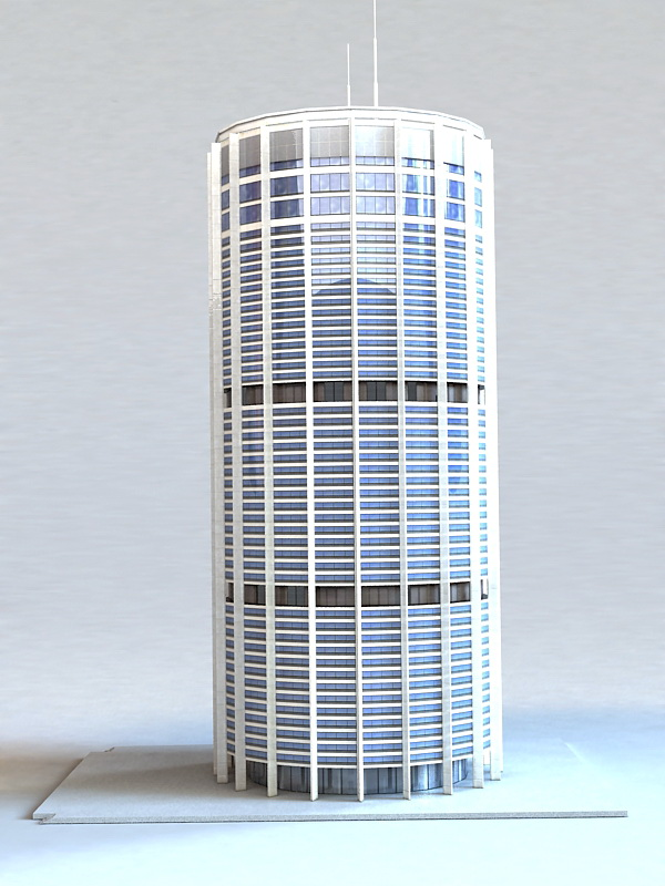 Round Building 3d rendering