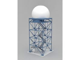 Industrial Water Tower 3d preview
