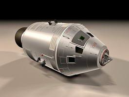 Apollo Command Service Module 3d model preview