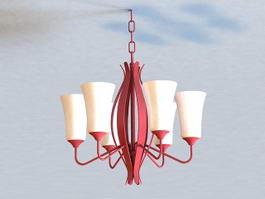 Rustic Chandelier Lighting 3d model preview