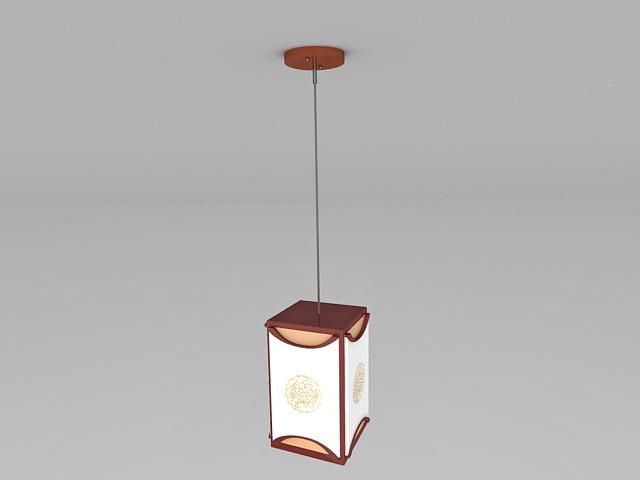 Chinese Pendant Light 3d rendering