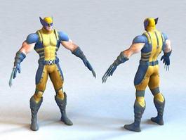 Marvel Wolverine 3d model preview