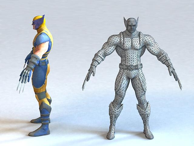 Marvel Wolverine 3d rendering