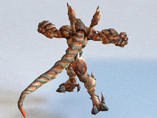 Dragonkin Fighter 3d rendering