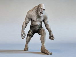 Giant Zombie Monster 3d model preview