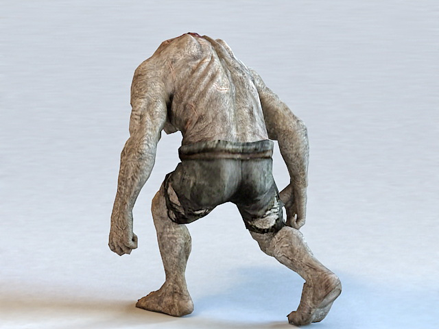 Giant Zombie Monster 3d rendering