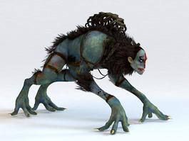 Hunter Monster 3d model preview