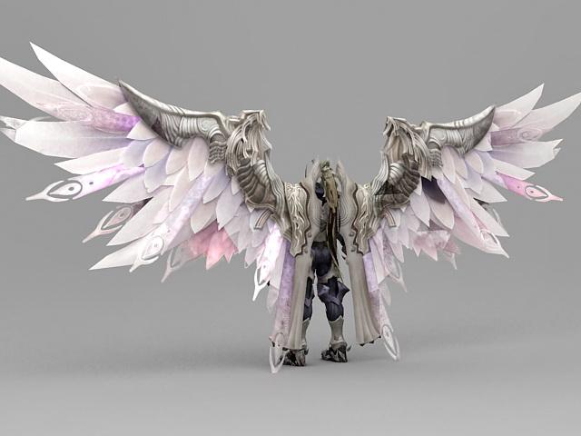 Fantasy Knight Armor Angel 3d rendering
