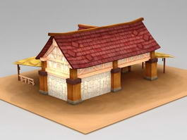 Ancient Horse Stable 3d preview