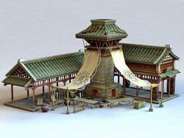 Ancient Blacksmith Shop 3d preview
