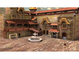 Ancient European Manor House 3d preview