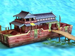Ancient Chinese Pleasure Boat 3d preview