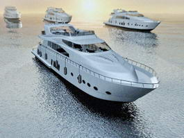 Yacht Party in the Ocean 3d preview