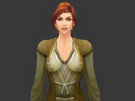 Medieval Noblewoman 3d preview