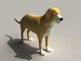 Smooth Collie Dog 3d preview