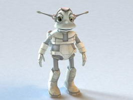 Cute Alien Animated & Rigged 3d preview